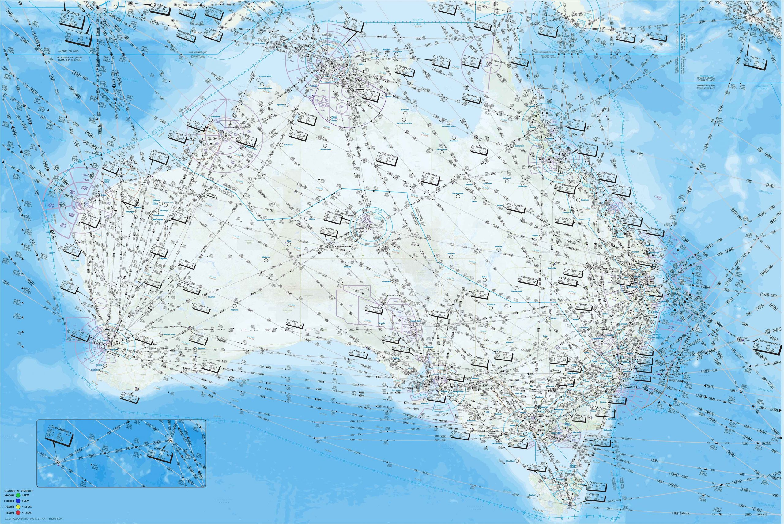 Topographic Style - Australia - METAR Map • AUSTRALIAN METAR ...
